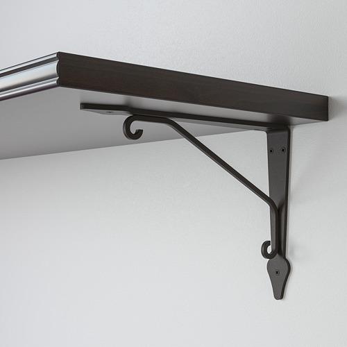 BERGSHULT/KROKSHULT - wall shelf, brown-black/anthracite | IKEA Hong Kong and Macau - PE764121_S4