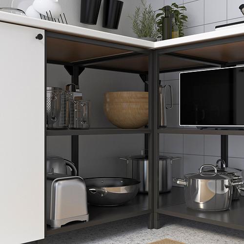ENHET - 角位廚房, 炭黑色/白色   IKEA 香港及澳門 - PE818564_S4