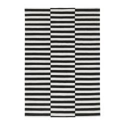 STOCKHOLM - rug, flatwoven, handmade/striped black/off-white | IKEA Hong Kong and Macau - PE161531_S3