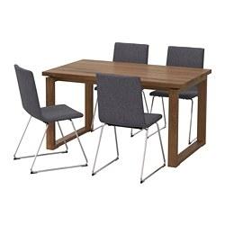 VOLFGANG/MÖRBYLÅNGA - 一檯四椅, 褐色/Gunnared 暗灰色 | IKEA 香港及澳門 - PE673459_S3