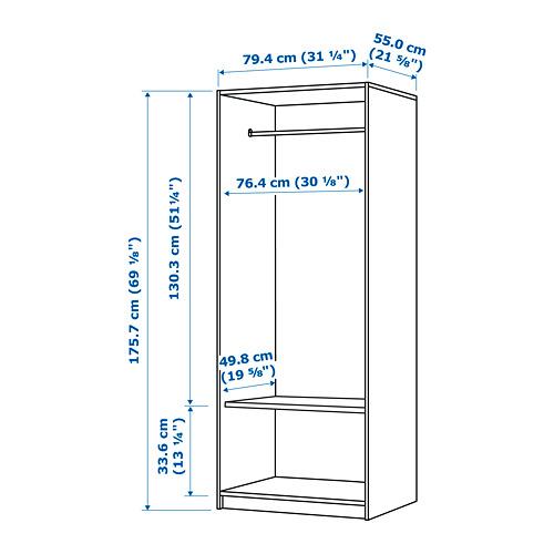 RAKKESTAD - wardrobe with 2 doors, black-brown | IKEA Hong Kong and Macau - PE764171_S4