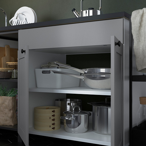 ENHET - 廚房, 炭黑色/灰色 框架 | IKEA 香港及澳門 - PE818599_S4