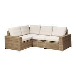 SOLLERÖN - modular corner sofa 3-seat, outdoor, brown/Frösön/Duvholmen beige | IKEA Hong Kong and Macau - PE673493_S3