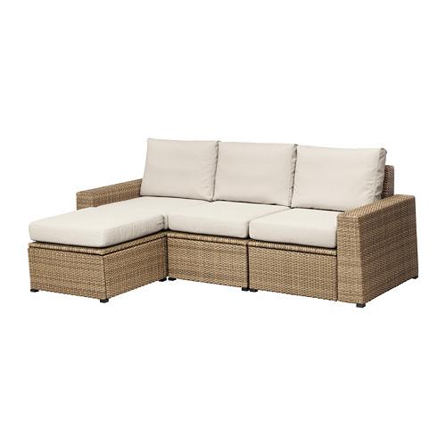 SOLLERÖN - 戶外三座位組合式梳化, 附腳凳 褐色/Frösön/Duvholmen 米黃色   IKEA 香港及澳門 - PE673507_S4