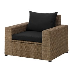 SOLLERÖN - armchair, outdoor, brown/Hållö black | IKEA Hong Kong and Macau - PE673513_S3