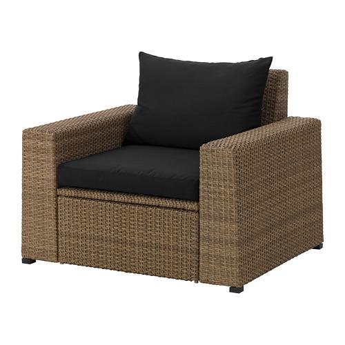 SOLLERÖN - 戶外扶手椅, 褐色/Hållö 黑色 | IKEA 香港及澳門 - PE673513_S4