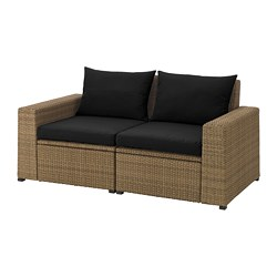 SOLLERÖN - 戶外兩座位組合式梳化, 褐色/Hållö 黑色   IKEA 香港及澳門 - PE673516_S3