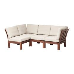 ÄPPLARÖ - modular corner sofa 3-seat, outdoor, brown stained/Frösön/Duvholmen beige | IKEA Hong Kong and Macau - PE673567_S3