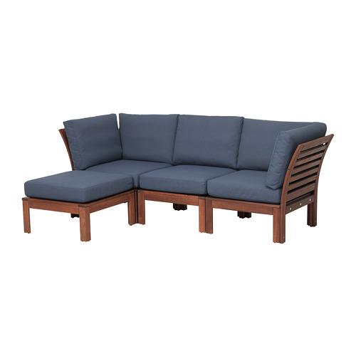 ÄPPLARÖ 戶外三座位梳化連腳凳