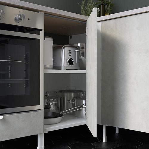 ENHET - 角位廚房, 白色/仿混凝土 白色 | IKEA 香港及澳門 - PE818747_S4
