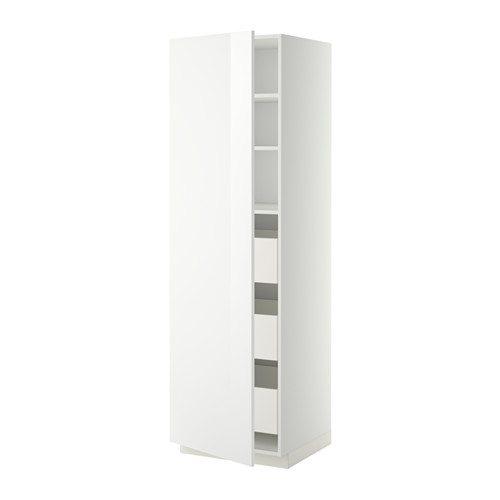 METOD/MAXIMERA - high cabinet with drawers, white/Ringhult white | IKEA Hong Kong and Macau - PE342769_S4