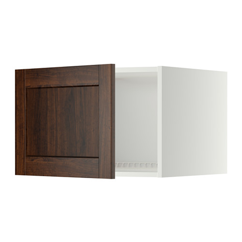 METOD - top cabinet for fridge/freezer, white/Edserum brown | IKEA Hong Kong and Macau - PE342586_S4
