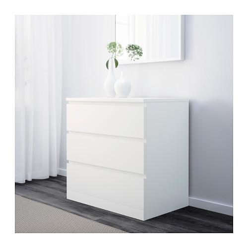 MALM - chest of 3 drawers, white | IKEA Hong Kong and Macau - PE624279_S4