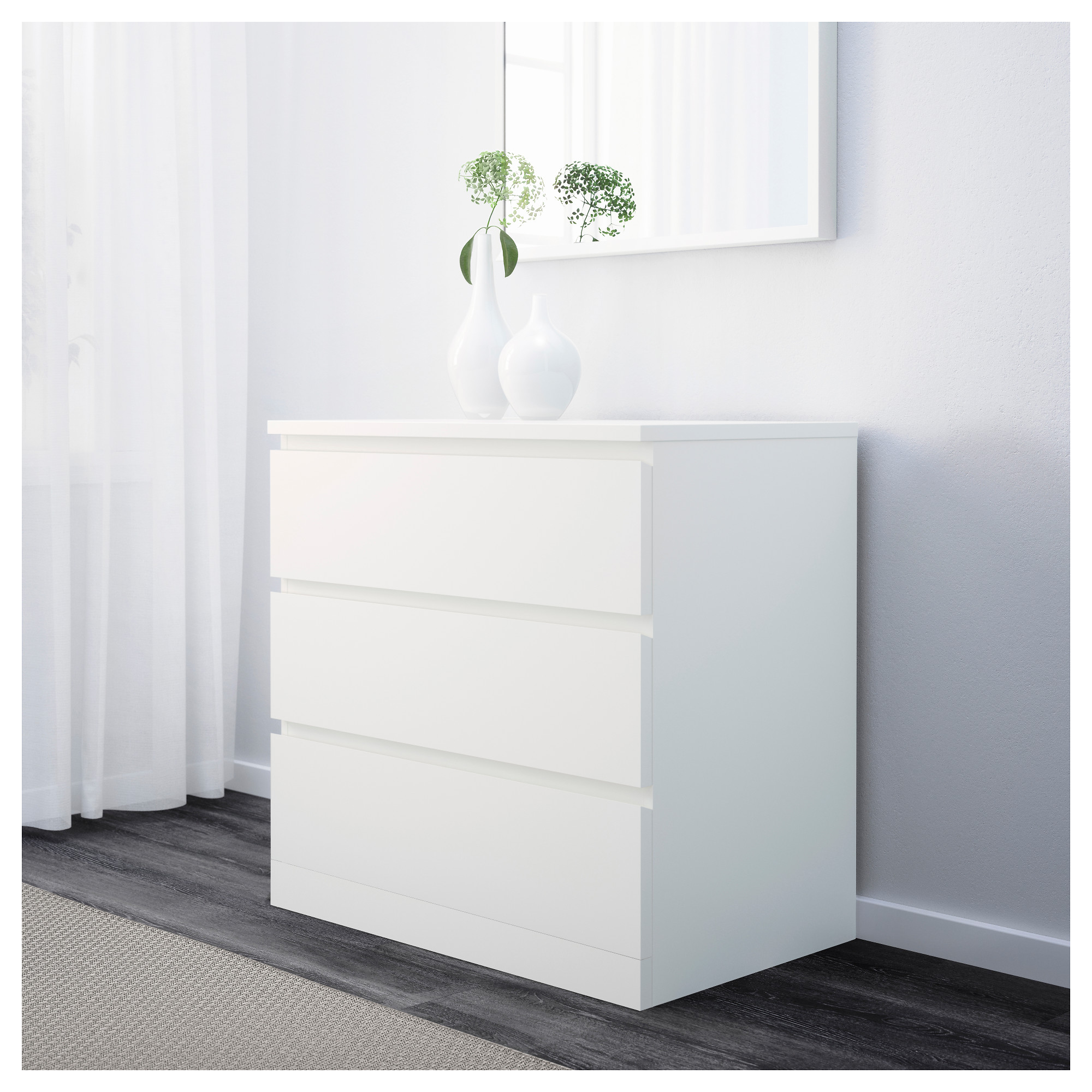 Malm Chest Of 3 Drawers White Ikea Hong Kong