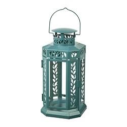 ENRUM - lantern f block candle, in/outdoor, turquoise | IKEA Hong Kong and Macau - PE818772_S3