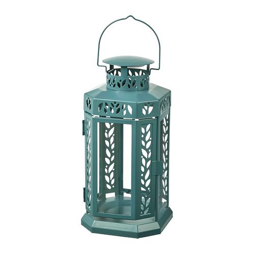 ENRUM - 柱形蠟燭燈座,室內/戶外用, 湖水綠色   IKEA 香港及澳門 - PE818772_S4