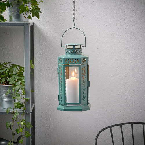 ENRUM - 柱形蠟燭燈座,室內/戶外用, 湖水綠色   IKEA 香港及澳門 - PE818774_S4