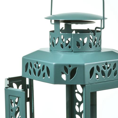 ENRUM - 柱形蠟燭燈座,室內/戶外用, 湖水綠色   IKEA 香港及澳門 - PE818773_S4