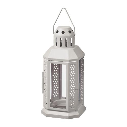 ENRUM - 燭燈燭台,室內/戶外用, 灰色 | IKEA 香港及澳門 - PE818769_S4