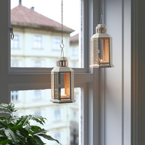 ENRUM - 燭燈燭台,室內/戶外用, 灰色 | IKEA 香港及澳門 - PE818771_S4