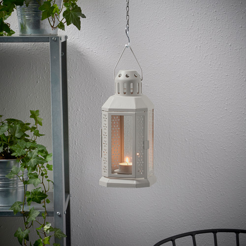 ENRUM - 燭燈燭台,室內/戶外用, 灰色 | IKEA 香港及澳門 - PE818770_S4