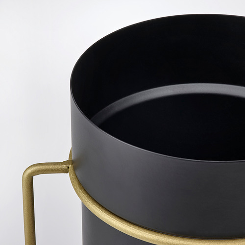 GOJIBÄR - 花盆連架, 室內/戶外用 黑色/黃銅色 | IKEA 香港及澳門 - PE820982_S4