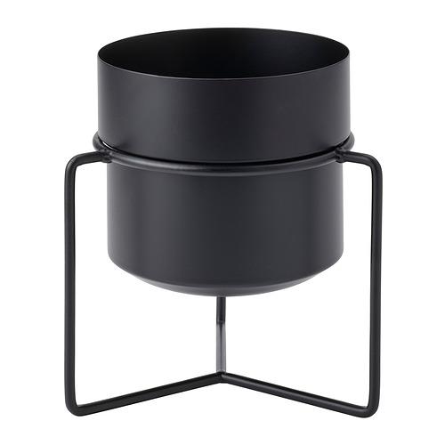 GOJIBÄR - 花盆連架, 室內/戶外用 黑色   IKEA 香港及澳門 - PE820983_S4