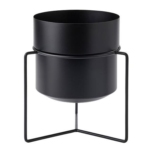 GOJIBÄR - 花盆連架, 室內/戶外用 黑色   IKEA 香港及澳門 - PE820988_S4