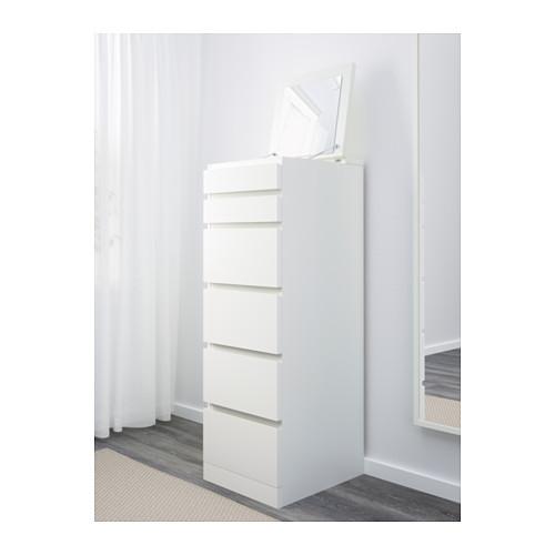 MALM - chest of 6 drawers, white/mirror glass   IKEA Hong Kong and Macau - PE624348_S4