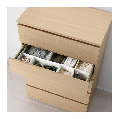 MALM - chest of 6 drawers, white stained oak veneer   IKEA Hong Kong and Macau - PE624376_S4