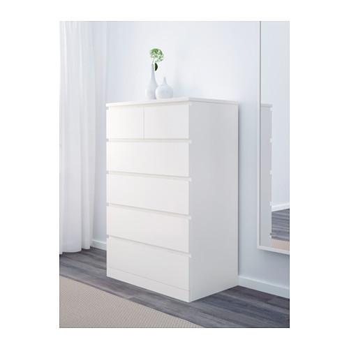 MALM - chest of 6 drawers, white   IKEA Hong Kong and Macau - PE624377_S4