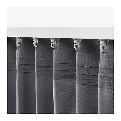 SANELA - 半遮光窗簾,一對, 深灰色 | IKEA 香港及澳門 - PE673739_S4