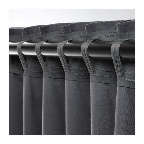 SANELA - 半遮光窗簾,一對, 深灰色 | IKEA 香港及澳門 - PE673738_S4