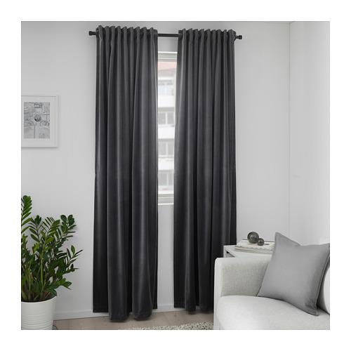SANELA - 半遮光窗簾,一對, 深灰色 | IKEA 香港及澳門 - PE673737_S4
