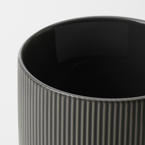GRADVIS - 花盆, 室內/戶外用 深灰色 | IKEA 香港及澳門 - PE820996_S4
