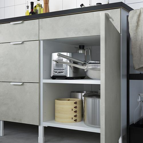 ENHET - 爐用地櫃連門, 白色/仿混凝土 | IKEA 香港及澳門 - PE818794_S4
