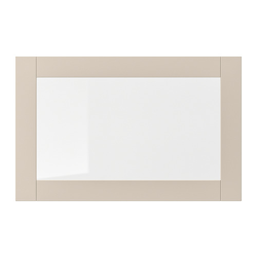 SINDVIK - 玻璃門, 淺灰米黃色/透明玻璃 | IKEA 香港及澳門 - PE818844_S4