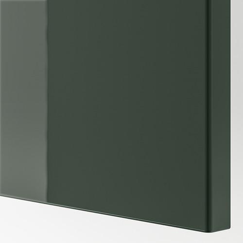 BESTÅ - TV bench with doors, black-brown/Selsviken/Stubbarp dark olive-green | IKEA Hong Kong and Macau - PE818909_S4