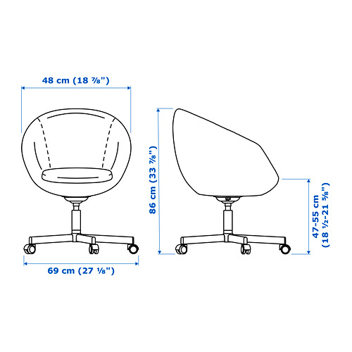 SKRUVSTA - 旋轉椅, Idhult 黑色 | IKEA 香港及澳門 - PE673887_S4