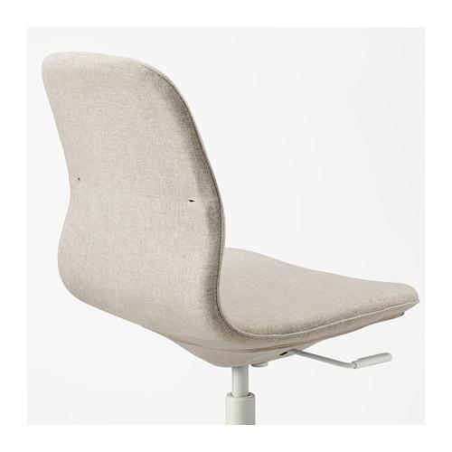 LÅNGFJÄLL - 辦公椅, Gunnared 米黃色/白色 | IKEA 香港及澳門 - PE673911_S4