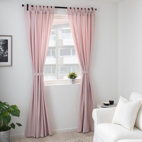 LENDA - 窗簾連簾帶,一對, 淺粉紅色 | IKEA 香港及澳門 - PE723307_S4