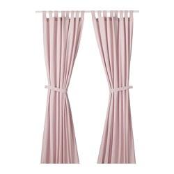 LENDA - 窗簾連簾帶,一對, 淺粉紅色 | IKEA 香港及澳門 - PE723308_S3