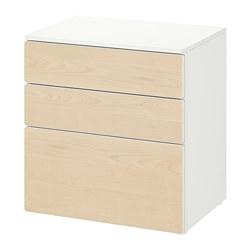 PLATSA/SMÅSTAD - chest of 3 drawers, white/birch   IKEA Hong Kong and Macau - PE818994_S3
