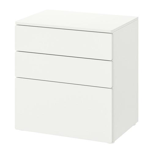 PLATSA/SMÅSTAD - 三層抽屜櫃, 白色/白色   IKEA 香港及澳門 - PE818989_S4