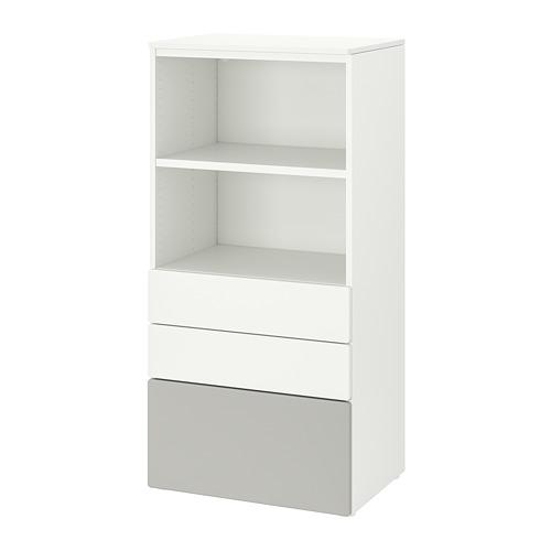 PLATSA/SMÅSTAD - 書架, white grey/with 3 drawers | IKEA 香港及澳門 - PE819036_S4