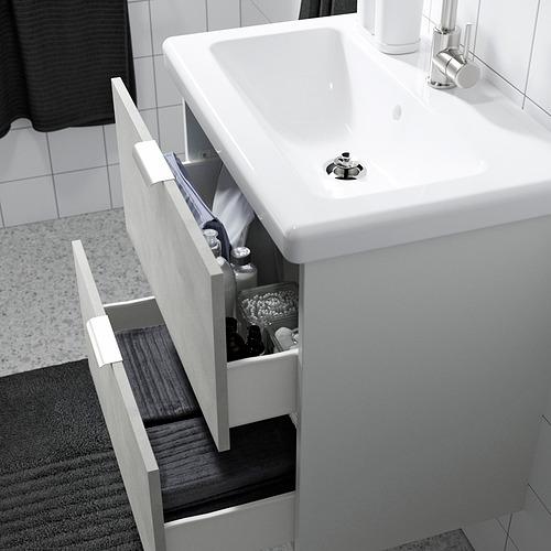 TVÄLLEN/ENHET - bathroom furniture, set of 13, concrete effect/white Glypen tap | IKEA Hong Kong and Macau - PE819168_S4