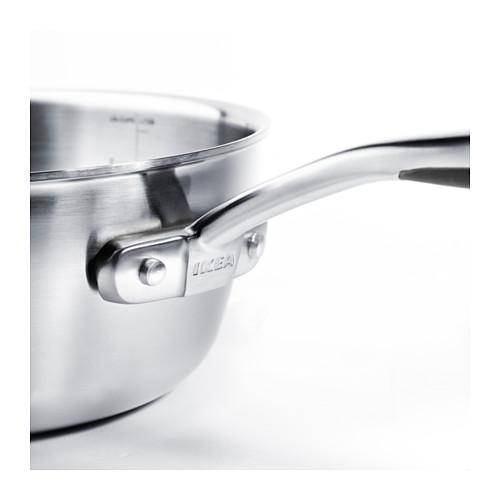 SENSUELL - saucepan with lid 2.4L, stainless steel/grey | IKEA Hong Kong and Macau - PE559468_S4