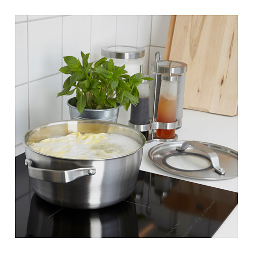 SENSUELL - pot with lid 4L, stainless steel/grey | IKEA Hong Kong and Macau - PE559461_S4