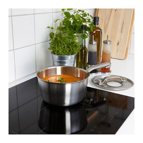 SENSUELL - saucepan with lid 2.4L, stainless steel/grey | IKEA Hong Kong and Macau - PE559460_S4