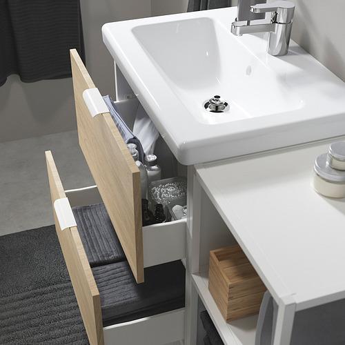 TVÄLLEN/ENHET - 浴室貯物組合 15件裝, oak effect/white Ensen tap | IKEA 香港及澳門 - PE819158_S4
